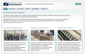 McClellan Automation Systems website thumbnail