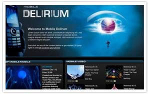 Cirque du Soleil - Delirium mobile landing page thumbnail