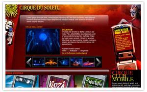Cirque du Soleil mobile portal thumbnail