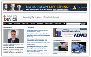 Massachusetts Medical Device Journal web site thumbnail