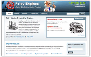 Foley Engines website thumbnail