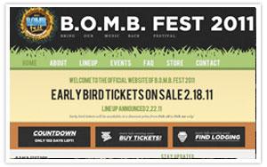 B.O.M.B. Fest 2011  -  bombfest.com, Bring Our Music Back Festival web site thum